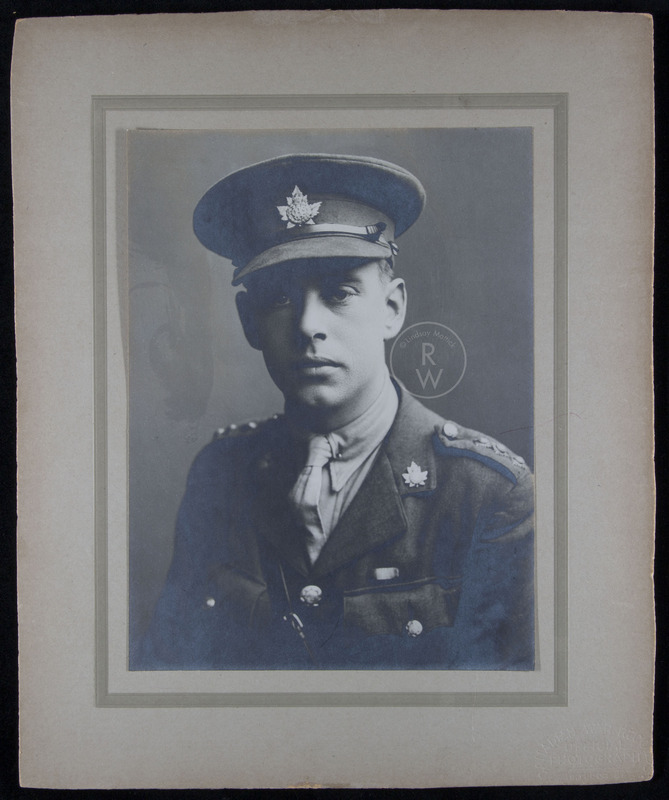 Portrait of Harry Colebourn as a solider