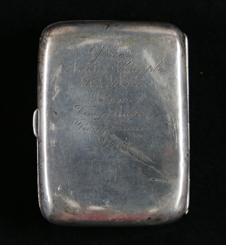 Harry Colebourn's Cigarette Case (back)