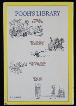 Back cover ofWhen We Were Very Youngby A.A. Milne