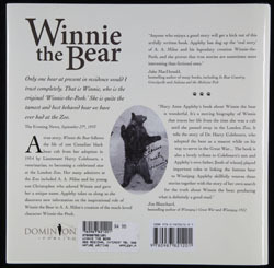 Back cover of Winnie the Bear by M.A. Appleby