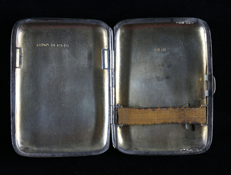 Harry Colebourn's Cigarette Case Interior