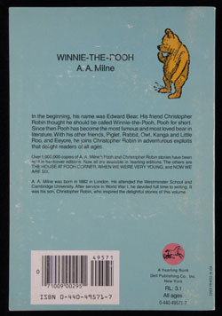 Back cover ofWinnie-the-Poohby A.A. Milne