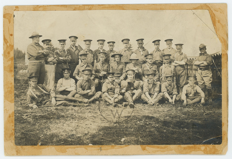 Winnie with Second Canadian Infantry Brigade HQ Staff, Valcartier, Quebec.