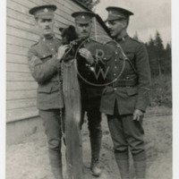 Soldiers with bear cub